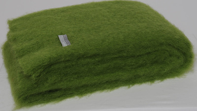 Mohair Throw Blanket - Lime