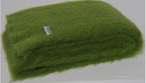 Mohair Throw Blanket - Lime