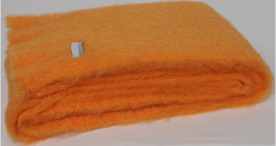 Mohair Throw Blanket - Mango