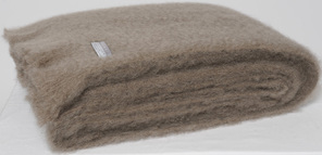 Mohair Throw Blanket - Manuka