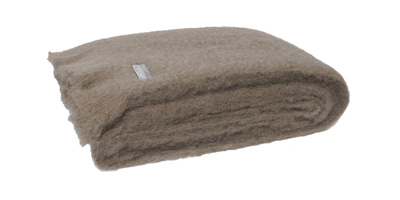 Mohair Throw Blanket - Manuka