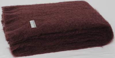 Mohair Throw Blanket - Mulberry