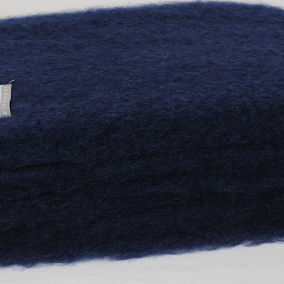 Mohair Throw Blanket - Navy