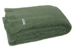 Mohair Throw Blanket - Olive