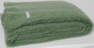 Mohair Throw Blanket - Olive