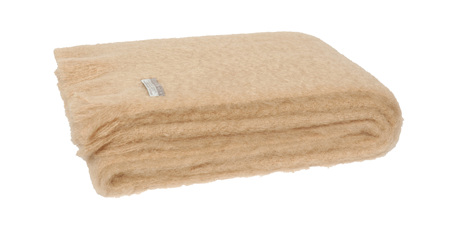 Mohair Throw Blanket - Paper