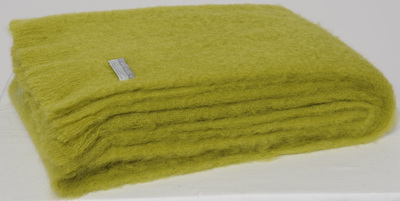 Mohair Throw Blanket - Pesto