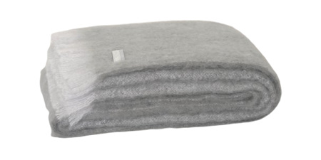 Mohair Throw Blanket - Pewter
