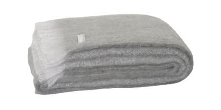 Mohair Throw Blanket - Pewter