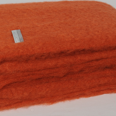 Mohair Throw Blanket - Pumpkin
