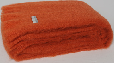 Mohair Throw Blanket - Pumpkin