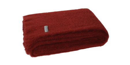 Mohair Throw Blanket - Russet
