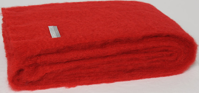 Mohair Throw Blanket - Scarlet