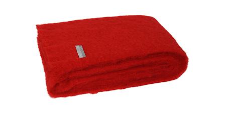 Mohair Throw Blanket - Scarlet