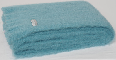 Mohair Throw Blanket - Seaspray
