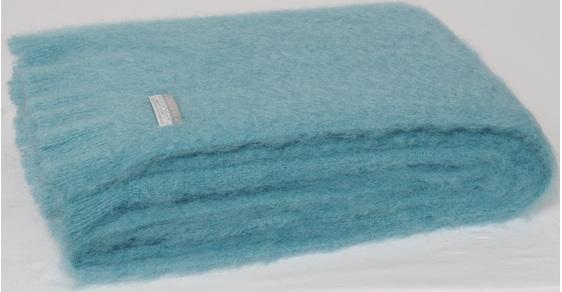 Mohair Throw Blanket - Seaspray