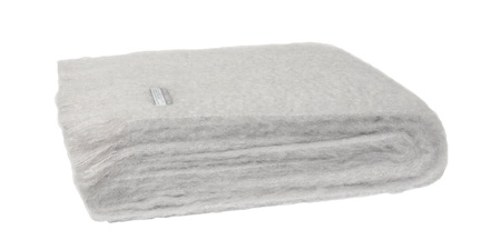Mohair Throw Blanket - Silver