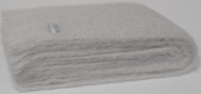 Mohair Throw Blanket - Silver