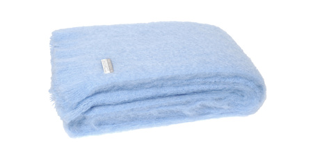 Mohair Throw Blanket - Sky