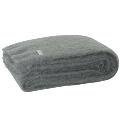 Mohair Throw Blanket - Slate