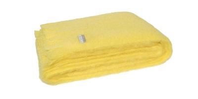 Mohair Throw Blanket - Soft Lemon