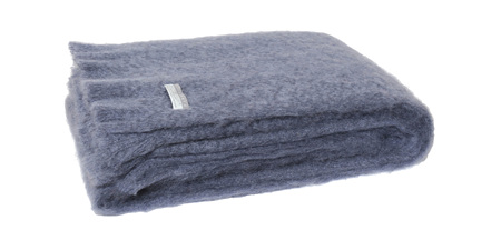 Mohair Throw Blanket - Storm