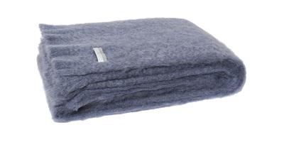 Mohair Throw Blanket - Storm