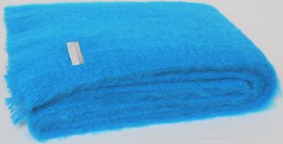 Mohair Throw Blanket - Turquoise