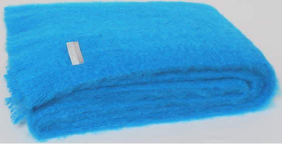 Mohair Throw Blanket - Turquoise