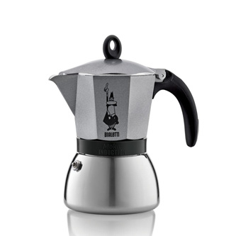 Moka Induction 6 cup Silver