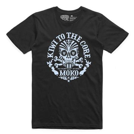 Moko Kiwi to the Core Mens Tee Black