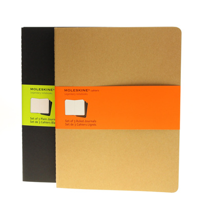 Moleskine Cahiers - set of 3 journals - extra large