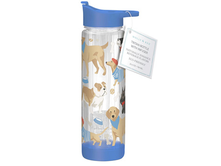 Molly & Rex Tritan Drink Bottle with Removable Infuser Dogs 700ml