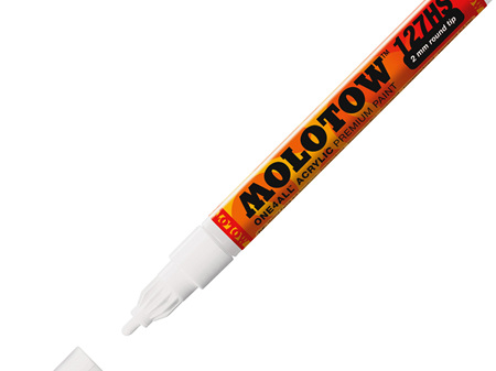 MOLOTOW ONE4ALL 127HS-CO 1.5mm Fine Tip Signal White