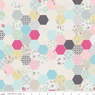 Moments Hexagon Cream C9012-Cream
