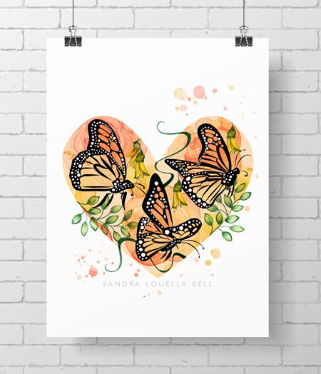 Monarch Remembrance Print