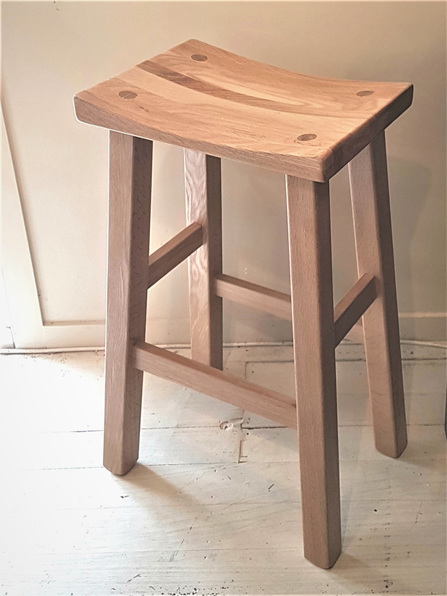 Monks Barstool Oak Made in NZ to order solidwood furniture