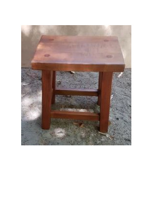 Monks Stool Table Flat Top