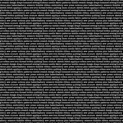 Monochrome Text - Black