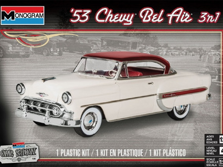 Monogram 1/24 1953 Chevy Bel Air (3 'n 1) Stock, Custom or Lowrider