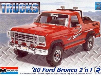 Monogram 1/24 1980 Ford Bronco (2 'n 1)