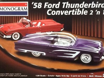 Monogram 1/24 58 Ford Thunderbird Convertible 2n1