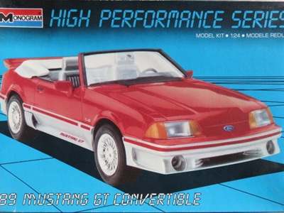 Monogram 1/24 High Performance Series 89 Mustang GT Convertible