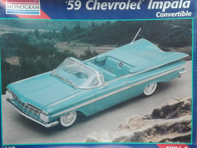 Monogram 1/25 59 Chevrolet Impala Convertible