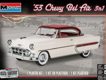 Monogram 1/24 1953 Chevy Bel Air (3 'n 1) Stock, Custom or Lowrider