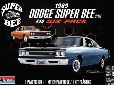 Monogram 1/24 1969 Dodge Super Bee 440 Six Pack (2 'n 1)  (RMX4505)