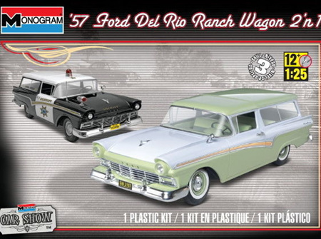 Monogram 1/25 1957 Ford Del Rio Ranch Wagon (2 in 1) (MON4193)