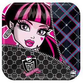 Monster High Lunch Plates x 8