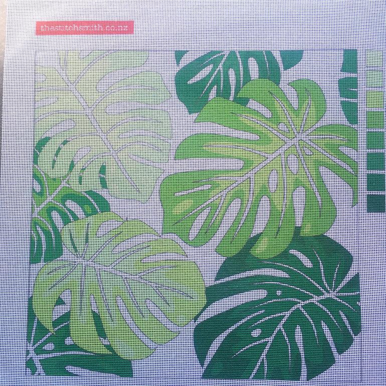 MONSTERRA needlepoint canvas