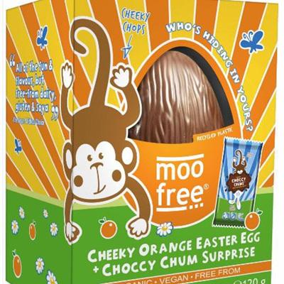 Moo Free Cheeky Orange Egg with Choccy Chum